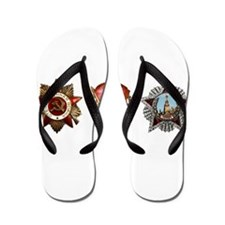 Military Soviet Union Decorations Medal Flip Flops