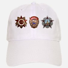 Military Soviet Union Decorations Medals T-shi Cap
