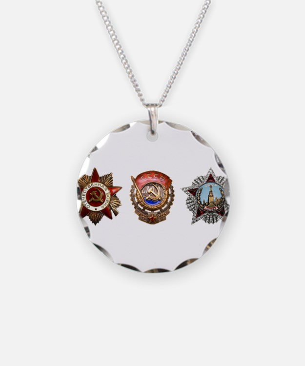 Military Soviet Union Decora Necklace
