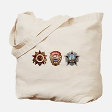 Military Soviet Union Decorations Medals Tote Bag