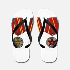 Soviet Union Medals T-shirt 2nd World W Flip Flops