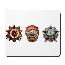 Military Soviet Union Decorations Medals Mousepad