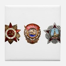 Military Soviet Union Decorations Med Tile Coaster