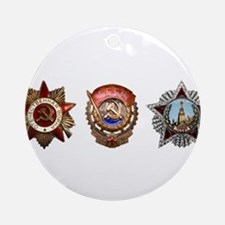 Military Soviet Union Decorations Ornament (Round)