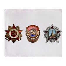 Military Soviet Union Decorations Me Throw Blanket