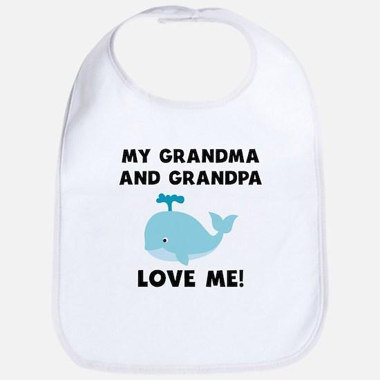 My Grandma And Grandpa Love Me Whale Bib
