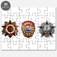 Military Soviet Union Decorations Medals T- Puzzle