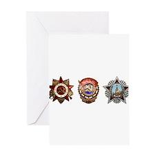 Military Soviet Union Decorations M Greeting Cards