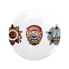 "Military Soviet Union Decor 3.5"" Button (100 pack)"