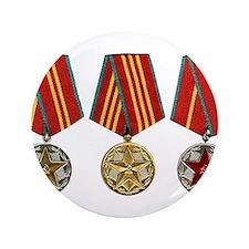 "Soviet Union Medals T-shirt 3.5"" Button (100 pack)"
