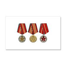 Soviet Union Medals T-shirt 2nd Car Magnet 20 x 12