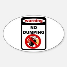 No Dumping Oval Decal