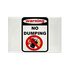 No Dumping Rectangle Magnet (10 pack)