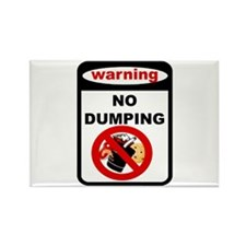 No Dumping Rectangle Magnet (100 pack)