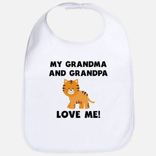 My Grandma And Grandpa Love Me Tiger Bib