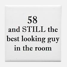 58 still best looking 2 Tile Coaster