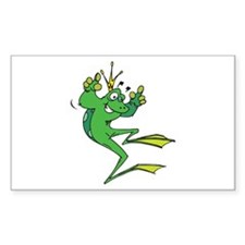 Silly Prince Frog Rectangle Decal