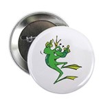 Silly Prince Frog Button