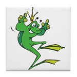 Silly Prince Frog Tile Coaster