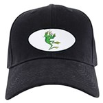 Silly Prince Frog Black Cap