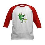 Silly Prince Frog Kids Baseball Jersey