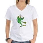 Silly Prince Frog Women's V-Neck T-Shirt