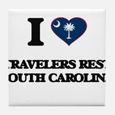 I love Travelers Rest South Carolina Tile Coaster
