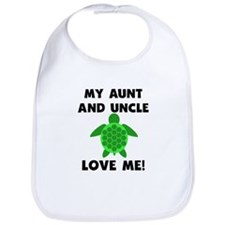 My Aunt And Uncle Love Me Turtle Bib