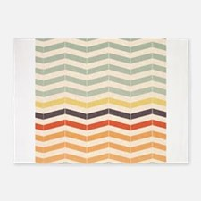 Chevron Natural Shades 5'x7'Area Rug