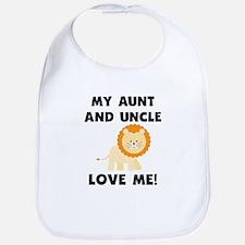 My Aunt And Uncle Love Me Lion Bib