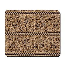 Golden Tudor Damask Mousepad