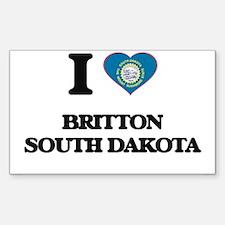 I love Britton South Dakota Decal