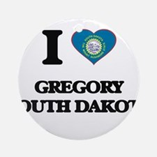 I love Gregory South Dakota Ornament (Round)