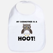 My Godmother Is A Hoot! Bib
