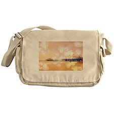 Bokeh Hearts Santa Monica Pier Messenger Bag