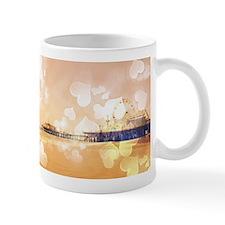 Bokeh Hearts Santa Monica Pier Mugs