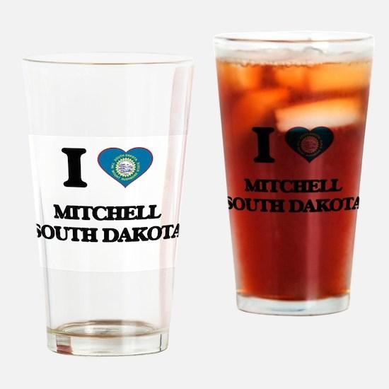 I love Mitchell South Dakota Drinking Glass