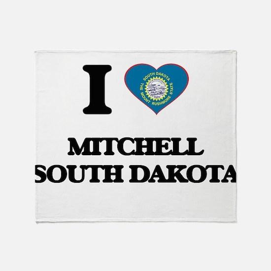 I love Mitchell South Dakota Throw Blanket