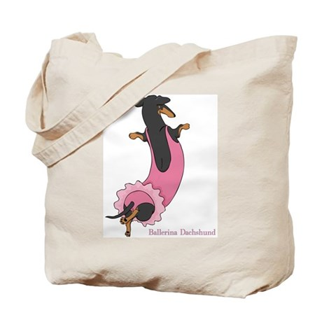 Ballerina Dachshund (BT) Tote Bag