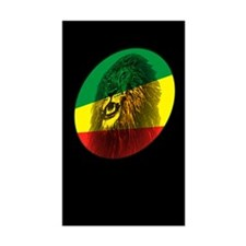 Jah Lion Dark Rectangle Decal