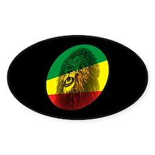 Jah Lion Dark Oval Decal