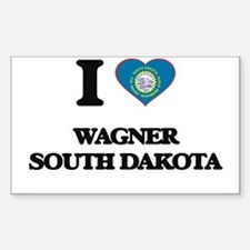 I love Wagner South Dakota Decal