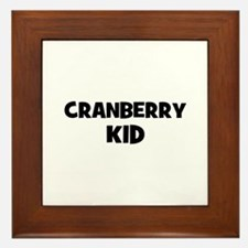 cranberry kid Framed Tile