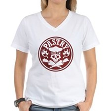 Pastry Chef Skull Red White T-Shirt