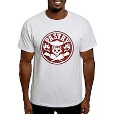 Pastry Chef Skull Red White T-Shirt