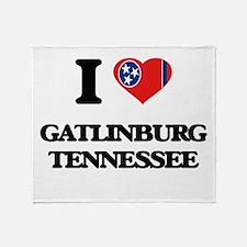 I love Gatlinburg Tennessee Throw Blanket