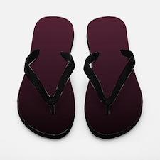 trendy burgundy ombre Flip Flops