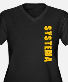 Systema Women's Plus Size V-Neck Dark T-Shirt