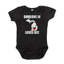 Someone In Michigan Loves Me Baby Bodysuit