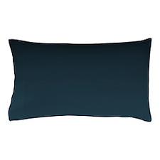 dark teal blue ombre Pillow Case